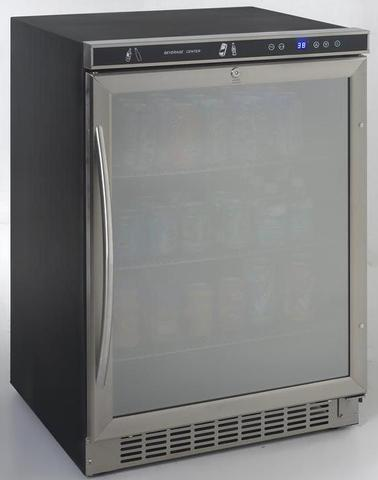 "Keg Cooler - 23.5"" - 5.1 cu ft - Stainless Steel and glass"