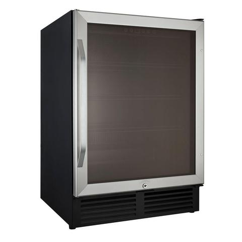"Drinks Chiller - 23.5"" - 5 cu ft - Black/Stainless Steel (3593992077392)"
