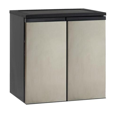"31"" 5.5 cu. ft. Stainless Steel Finish Undercounter Side-by-Side Refrigerator (3593991454800)"