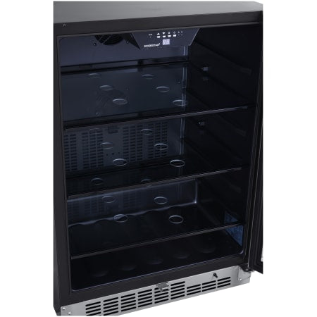 24 Inch Wide 142 Can Built-In Beverage Cooler with Tinted Door and LED Lighting (3622673350736)