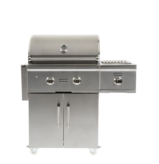 "Coyote 28"" Grill on Cart with Infinity Burners; LP Gas"