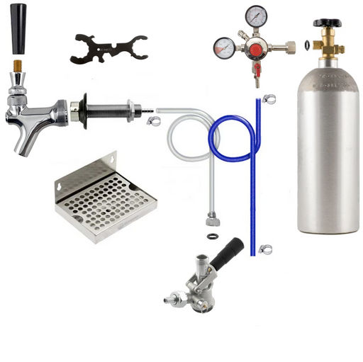Premium Single Tap Door Mount Kegerator Conversion Kit with 5 lb CO2 Tank