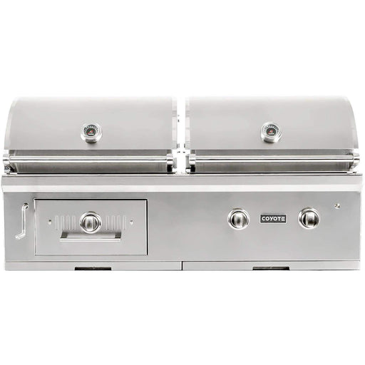 "Coyote 50"" Hybrid Gas & Charcoal Grill; Natural Gas (3616251543632)"