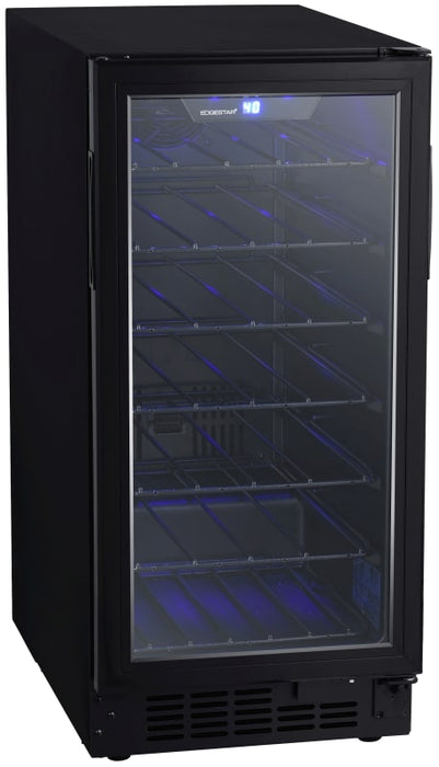 15 Inch Wide 30 Bottle Built-In Single Zone Wine Cooler with Reversible Door and LED Lighting (3604367966288)