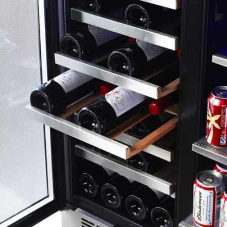 "30"" Built-In French Door Dual Zone Wine and Beverage Cooler (3622674661456)"