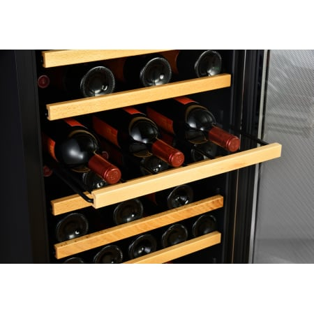 20 Inch Wide 44 Bottle Capacity Free Standing Wine Cooler with Reversible Door and LED Lighting (3622675742800)