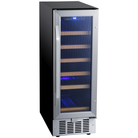 12 Inch Wide 18 Bottle Built-In Single Zone Wine Cooler with Reversible Door and LED Lighting (3622676856912)