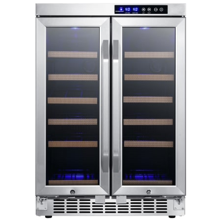 24 Inch Wide 36 Bottle Built-In Wine Cooler with Dual Cooling Zones and French Doors (3622678069328)