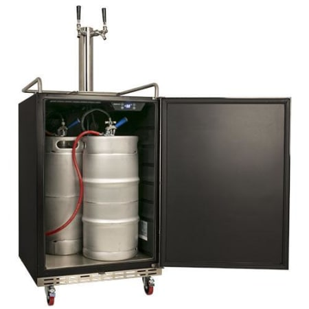 Full Size Dual Tap Built-In Stainless Steel Kegerator