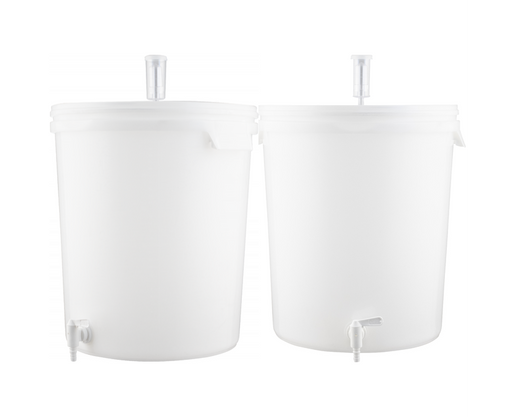 2 PACK Plastic Bucket Fermenter With Spigot - 7.9 Gallons (30 L)
