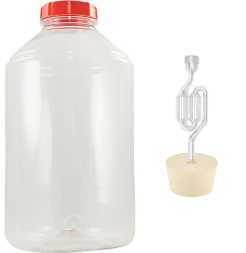 FerMonster 7 Gallon Plastic Carboy with #10 Stopper and Twin Bubble Airlock - Fermentation Kit