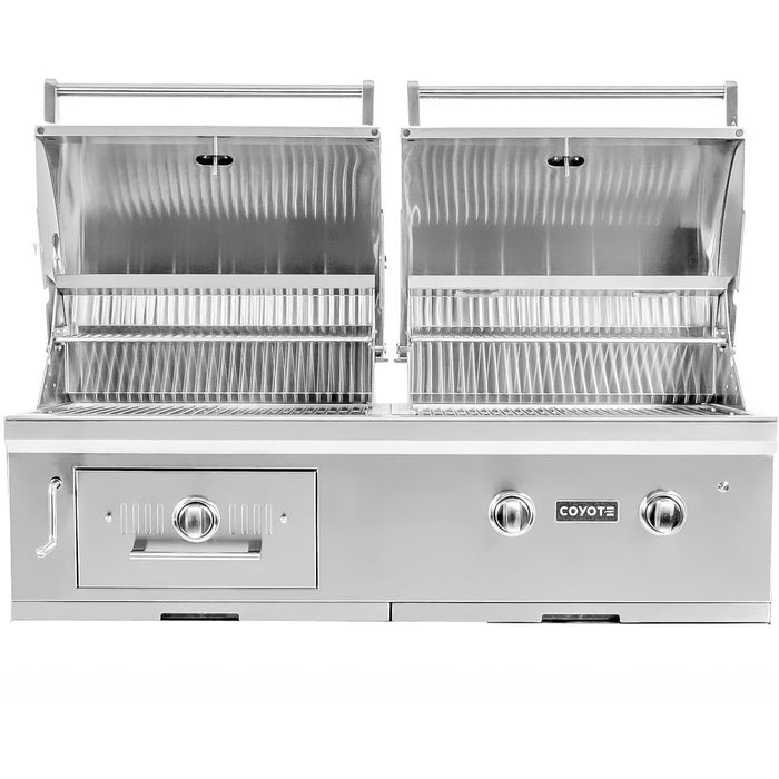"Coyote 50"" Hybrid Gas & Charcoal Grill; Natural Gas"