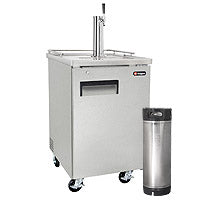 Kegco Single Tap Commercial Grade Home Brew Kegerator with Keg - Stainless Steel (3607820599376)