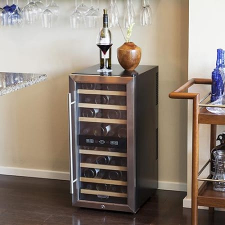 32 Bottle Free Standing Dual Zone Wine Cooler (3622676136016)