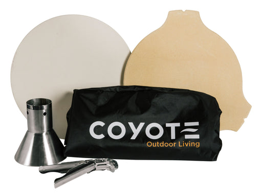 Coyote Asado Accessory Bundle includes Pizza Stone, Heat Deflector, Chicken Throne, Grid Grippers and Cover (3616252330064)