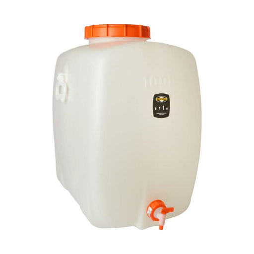 100L / 26.4 Gallon Plastic Rectangular Fermenter & Storage Tank with Spigot and Airlock
