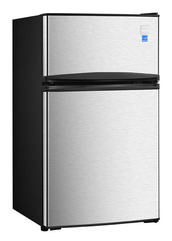 "19"" 3.1 cu. ft. Stainless Steel Compact Top Freezer Refrigerator (3593991290960)"
