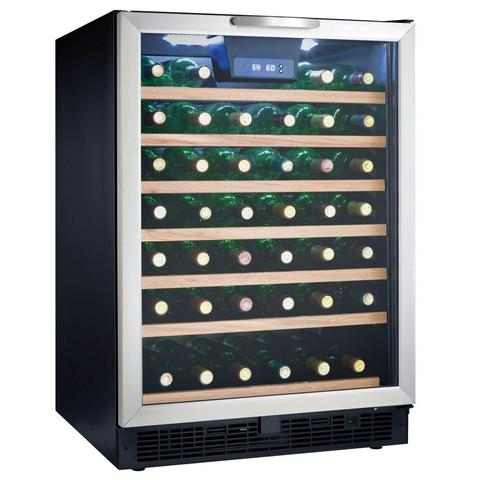 50-Bottle Designer Built-In Wine Cooler Stainless Steel (3594013474896)