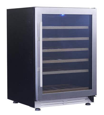 51-Bottle Single Zone Stainless Steel Undercounter Wine Chiller (3593992274000)