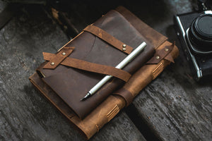 leather journal rustic journal refillable leather journal