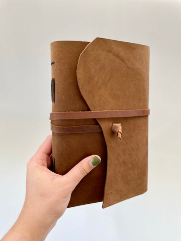 Large Classic Wrap Around Journal with Lined, Blank, or Dot Paper - Refillable
