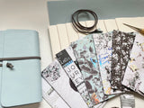 Medium DIY Sky Blue Leather Journal Kit