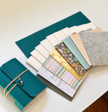 Small DIY Teal Leather Journal Kit