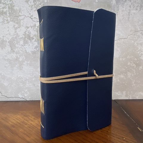 Large Navy Leather Journal