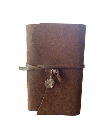Hogwarts Express Charms - Wizard Inspired Medium Rustic Leather Journal or Sketchbook