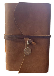 9 3/4 Platform Charm - Wizard Inspired Rustic Leather Journal or Sketchbook
