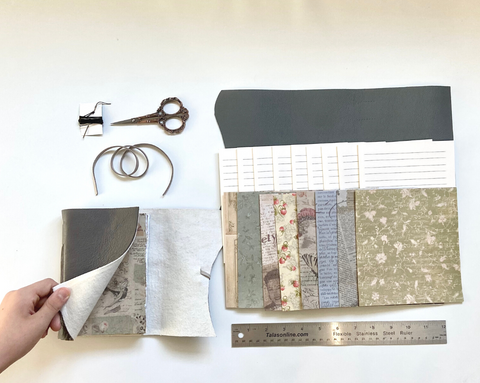 Small DIY Gray Leather Journal Kit