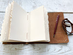 Carpe Diem  Rustic Wrap Around Journal, Sketchbook, Bullet Journal