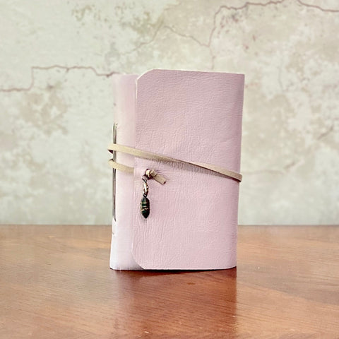Small Lavender Leather Journal