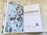 Sky Blue Women's Leather Artisan Journal with Shimmer Paper