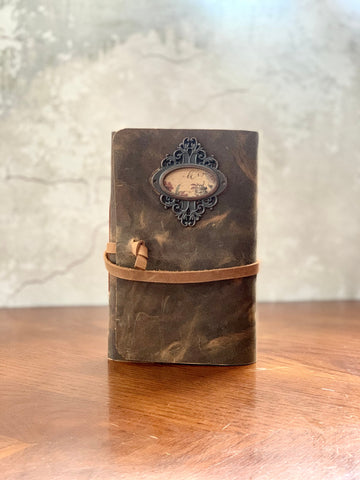 Rustic Leather Ladies Dream Journal - Refillable
