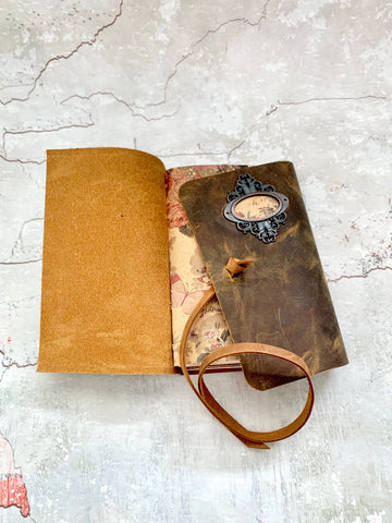 Rustic Leather Ladies Journal- Refillable