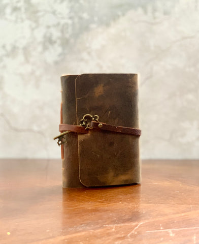 Small Rustic Leather Ladies Journal - Refillable