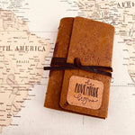 7x5 The Adventure Begins Patch - Map Style Travel Journal