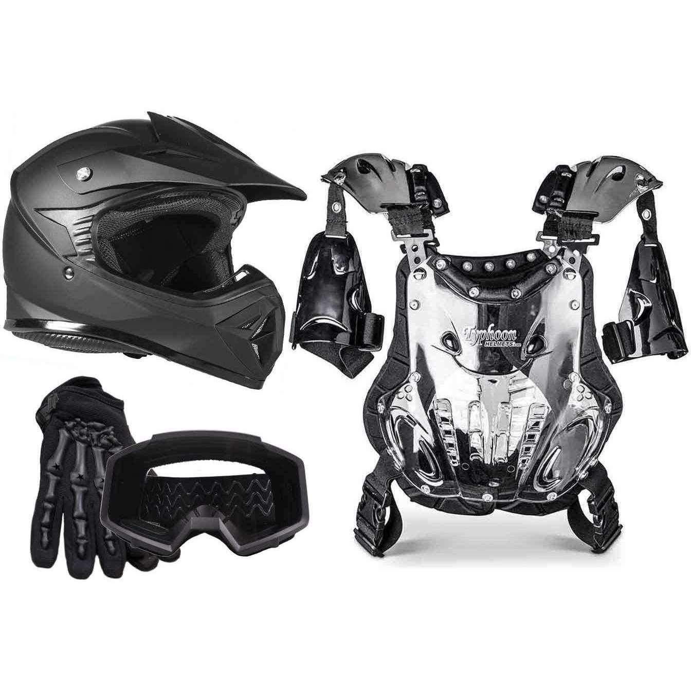 ALLSET Helmet Gloves Goggles Chest Protector