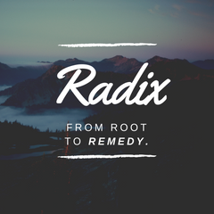 Radix is Latin for Root - The Core Purpose of Radix Remedies
