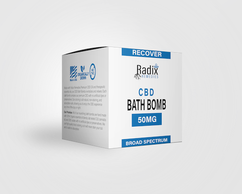 Radix Recover Bath Bomb 50MG - Radix Remedies