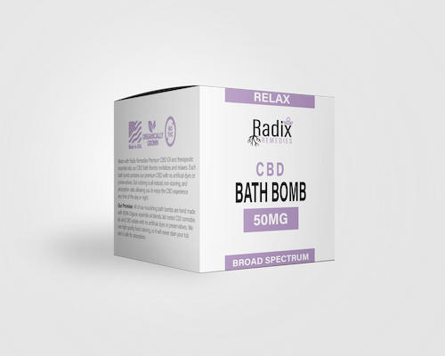 Radix Relax Bath Bomb 50MG - Radix Remedies