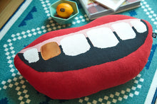 Load image into Gallery viewer, Gold Tooth Grin Pillow - Moonova Home