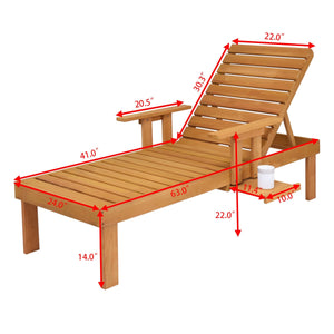 Wooden Lounge Chair - Moonova Home