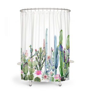 Watercolor Succulents Shower Curtain
