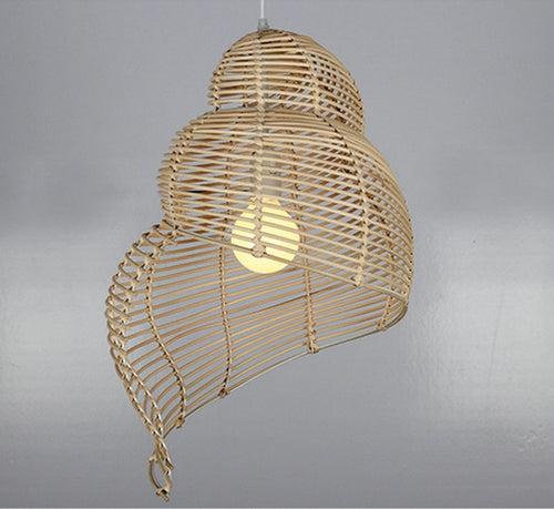 Curved Bamboo Pendant Lamp - Moonova Home