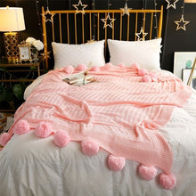 Load image into Gallery viewer, Crochet Pom Pom Blankets - Moonova Home