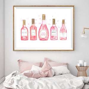 Rosé All Day Print - Moonova Home