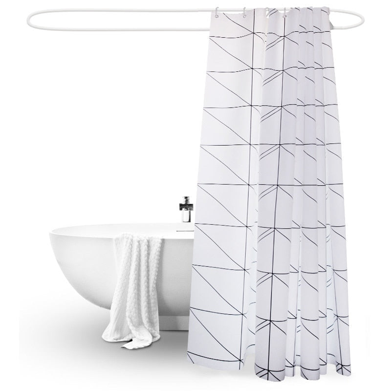 Minimalist Geometric Shower Curtain