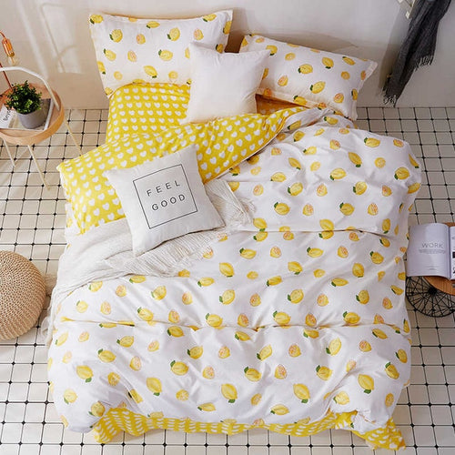 Easy Peasy Lemon Squeezy Bedding Set - Moonova Home